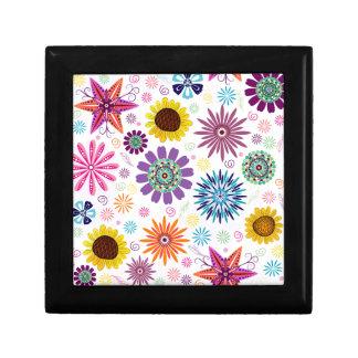 Boîte À Souvenirs Motif floral heureux