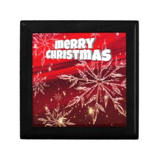 Boîte À Souvenirs Neige rouge de blanc de Noël