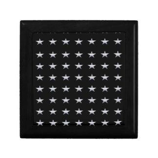 Boîte À Souvenirs Noir d'étoiles chanceuses avec la conception