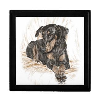 Boîte À Souvenirs Oreilles naturelles de chien de dobermann