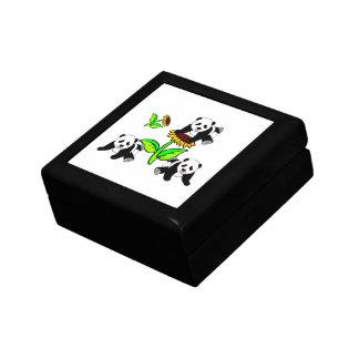 Boîte À Souvenirs Pandas de tournesol