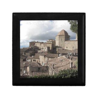 Boîte À Souvenirs Panorama de village de Volterra, Toscane, Italie