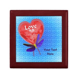 Boîte À Souvenirs Papillon rouge de ballon de coeur d'amour