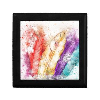 Boîte À Souvenirs Peinture colorée de la plume quatre comme conçu