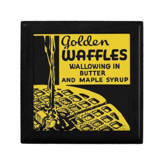 Boîte À Souvenirs Petit déjeuner d'or de gaufres