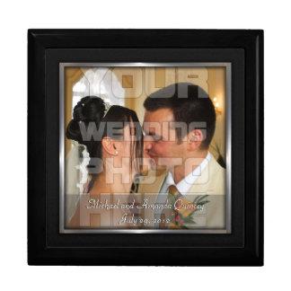 Boîte À Souvenirs Photo élégante de noir et de noces d'argent