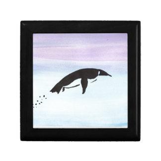 Boîte À Souvenirs Pingouin de natation