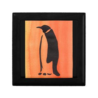 Boîte À Souvenirs Pingouin sur l'orange