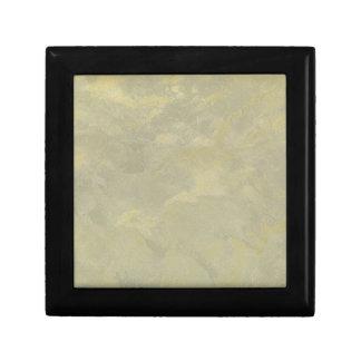 Boîte À Souvenirs Plâtre métallique d'argent et d'or