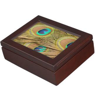 Boîte À Souvenirs Plumes de paon
