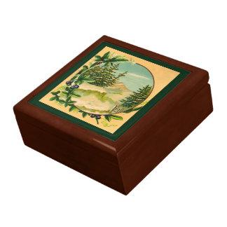 Boîte À Souvenirs Scène rustique de montagne