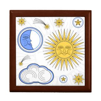 Boîte À Souvenirs Sun vintage et lune