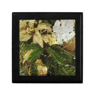 Boîte À Souvenirs Vacances de l'arbre de Noël d'argent et d'or II
