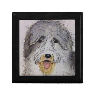 Boîte À Souvenirs Vieux chiot anglais de chien de moutons