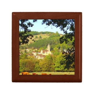 Boîte À Souvenirs Village médiéval de boîte-cadeau de Plazac