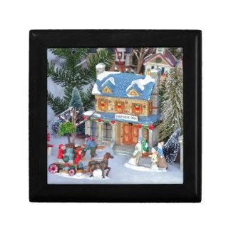 Boîte À Souvenirs Village miniature de Noël