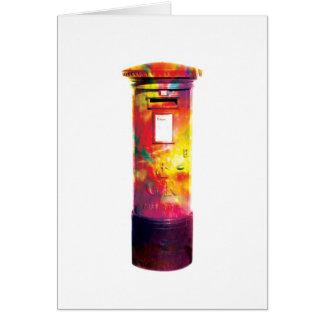 Boîte britannique de courrier - carte de voeux