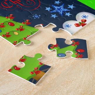 Boîte-cadeau de puzzle de Noël pour des enfants