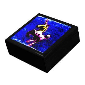 Boîte-cadeau de souvenir de tuile de licorne boîte à bijoux