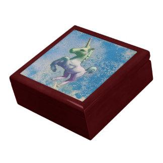 Boîte-cadeau de souvenir de tuile de licorne coffrets cadeaux