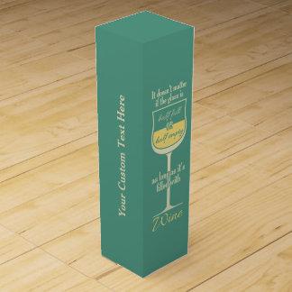 Boîte-cadeau faite sur commande de vin en verre de boite cadeau pour bouteille de vin