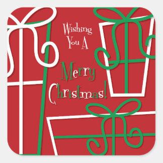 Boîte-cadeau géniale sticker carré