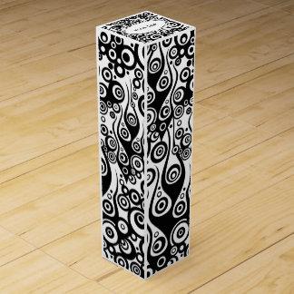 Boite Cadeau Pour Bouteille De Vin ART de motif de tatouage - flammes et cercles +
