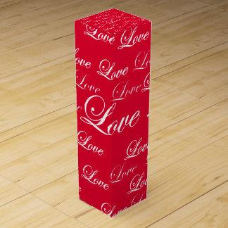 Boite Cadeau Pour Bouteille De Vin Boîte rouge à vin d'amour