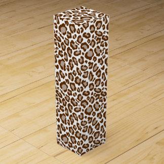 Boite Cadeau Pour Bouteille De Vin Empreinte de léopard