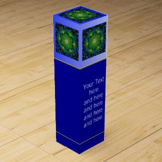 Boite Cadeau Pour Bouteille De Vin Fleur de la vie - univers du mandala V + votre