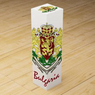 Boite Cadeau Pour Bouteille De Vin Manteau des bras de la Bulgarie