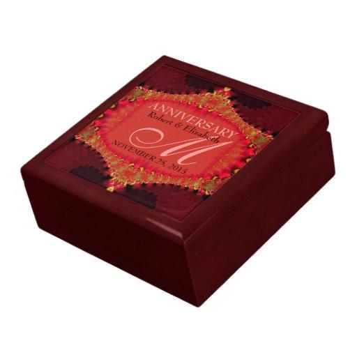 Boîte-cadeau rose de corail d'anniversaire de mari coffret cadeau
