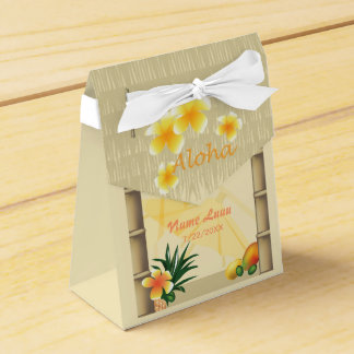 Boîte de cadeau de hutte de Luau Tiki Ballotins