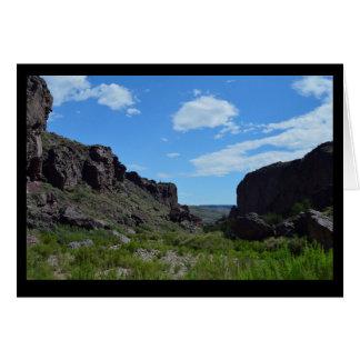 Boîte de canyon carte de vœux