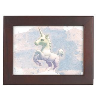Boîte de souvenir de licorne (rêves de lune) boîte à souvenirs