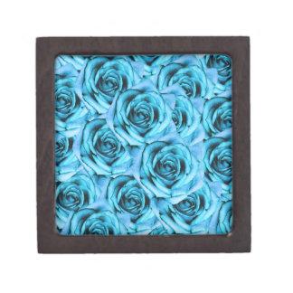Boîte de souvenir de roses de bleu glacier petite