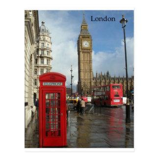 Boîte de téléphone de Londres Big Ben (par St.K) Carte Postale
