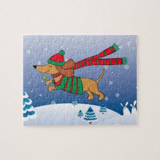 Boîte du puzzle w/Gift de photo de Noël 8x10 de