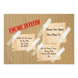 Boîte en carton de chauffage de partie de Chambre Carton D'invitation 12,7 Cm X 17,78 Cm