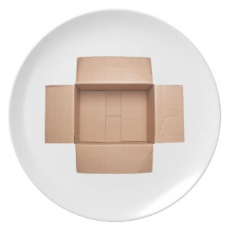 Boîte en carton ondulé Opened Assiettes En Mélamine