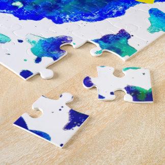 Boîte peinte à la main du puzzle w/Gift de