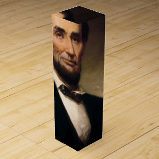Boite Pour Bouteille De Vin Abraham Lincoln par histoire de George H