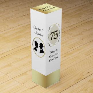 Boite Pour Bouteille De Vin soixante-quinzième Boîte à vin de cadeau