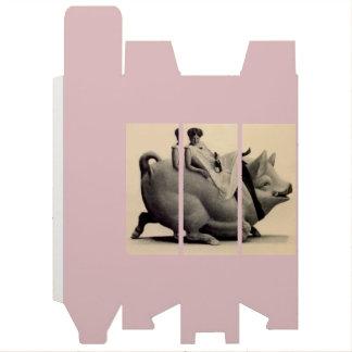 Boite Pour Bouteille De Vin Tour vintage rose poussiéreux la boîte à vin de
