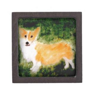 Boîtes À Babioles De Première Qualité Art mignon de chien de corgi