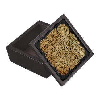 Boîtes À Babioles De Première Qualité Croix de Knotwork de Celtic