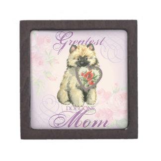 Boîtes À Babioles De Première Qualité Maman de coeur de Keeshond