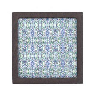 Boîtes À Bijoux De Première Qualité Géométrique bleu et vert