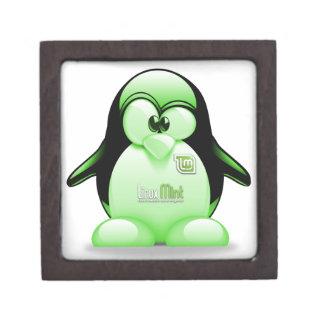 Boîtes À Bijoux De Première Qualité Menthe de Linux avec le logo de Tux