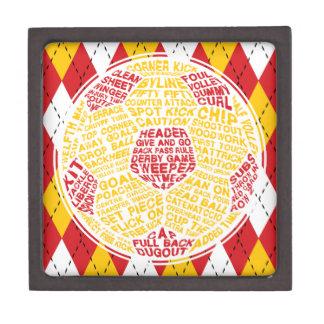 Boîtes À Souvenirs De Première Qualité Boîte typographique de bibelot de ballon de